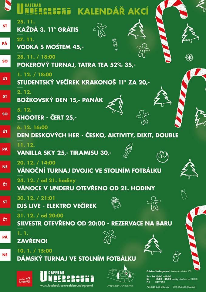 Vánoční turnaj ve stolním fotbálku - Litomyšl