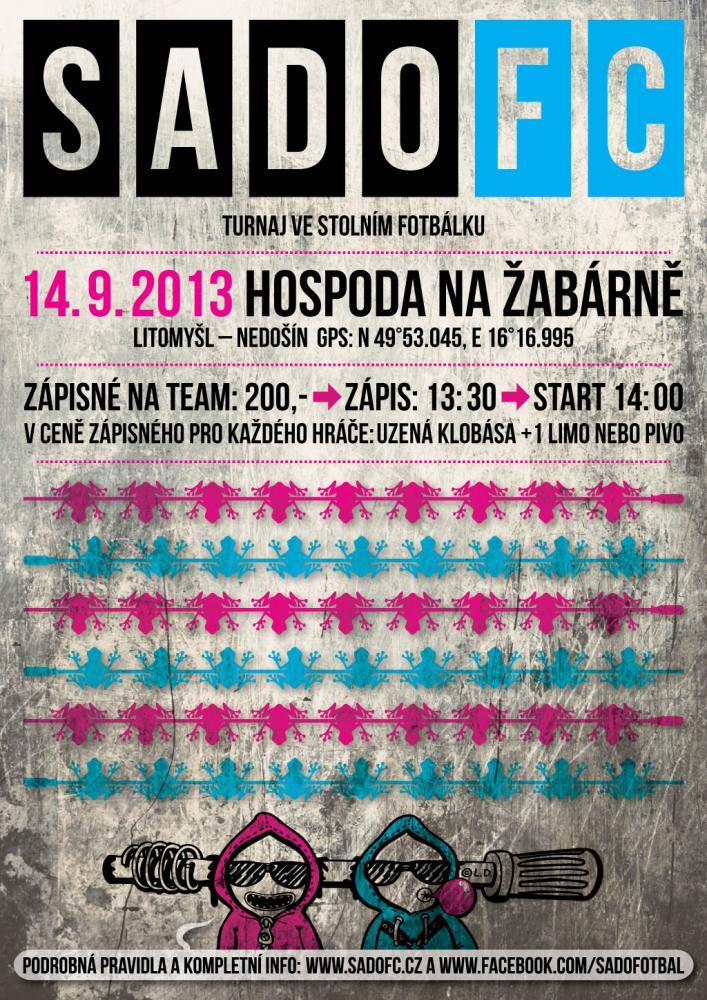 SadoFC turnaj ve stolním fotbálku - Na Žabárně Litomyšl