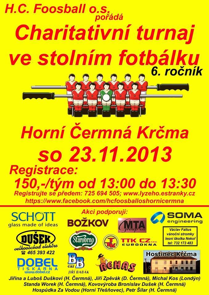 Charitativní turnaj ve stolním fotbálku - Horní Čermná