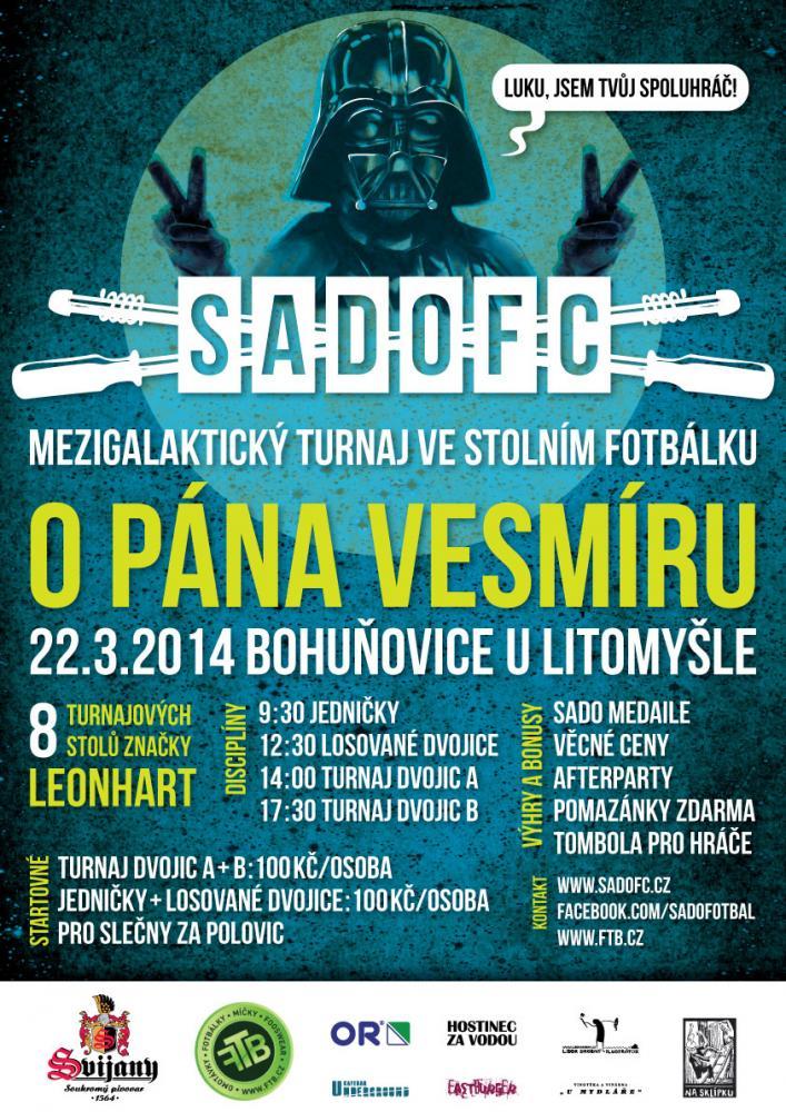 """SadoFC turnaj ve stolním fotbálku """"O PÁNA VESMÍRU 2014"""""""