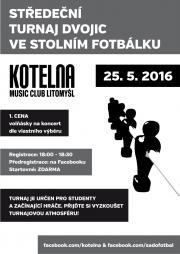 Středeční turnaj ve stolním fotbálku - MC Kotelna Litomyšl