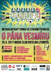 """SadoFC turnaj ve stolním fotbálku """"O Pána vesmíru 2017"""""""
