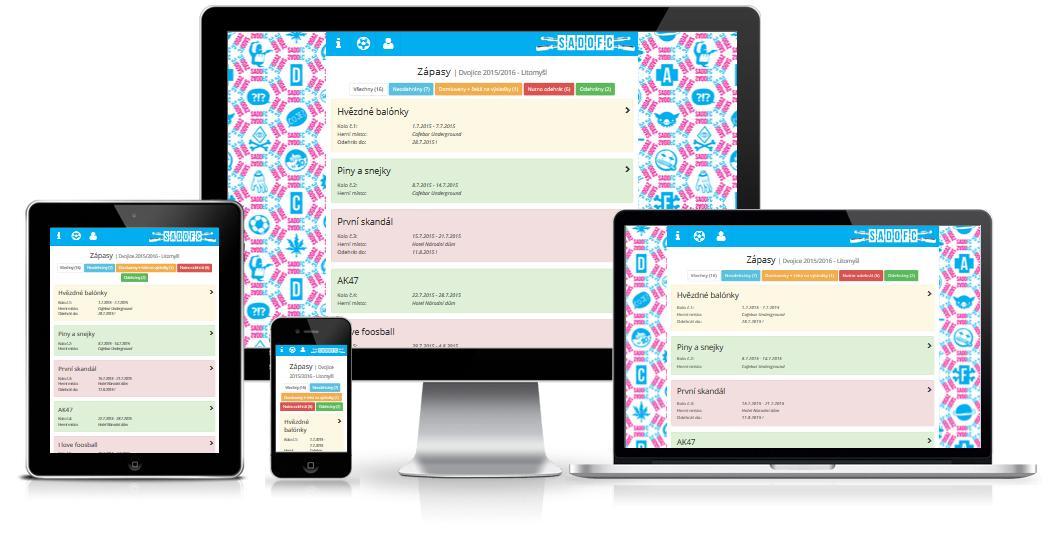 Ligová aplikace - všechna zařízení