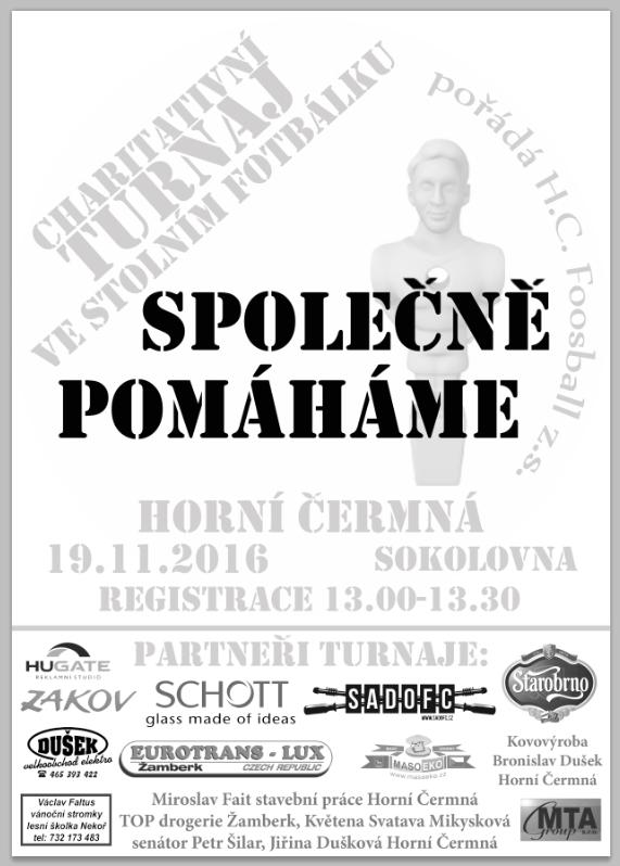 9. ročník Charitativního turnaje ve stolním fotbálku - Horní Čermná