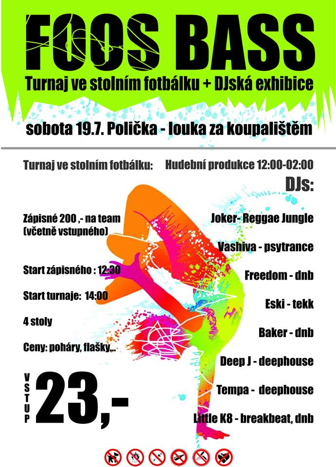 FOOSS BASS - open air turnaj ve stolním fotbálku + DJs