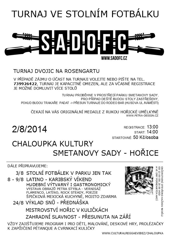 Open-air turnaj dvojic ve stolním fotbálku - Hořice
