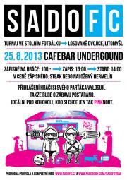 SadoFC turnaj losovaných dvojic ve stolním fotbálku - Cafebar Underground